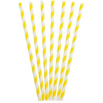 Paper Straws Yellow Striped